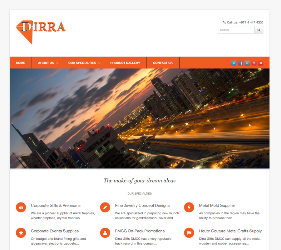 Dirra Gifts DMCC Website Development