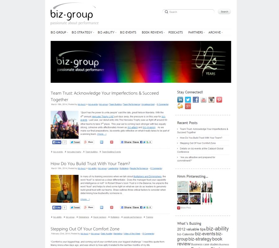 biz-group.ae Blog Development